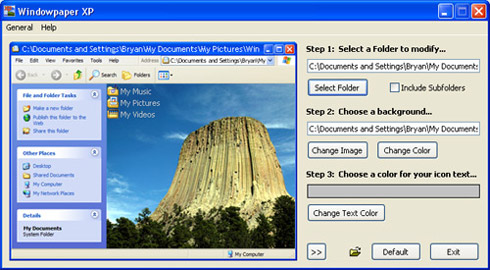 Come inserire sfondi all'interno delle cartelle di Windows Xp