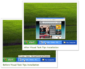 Windows Xp come Vista: Visual Task Tips (gratuito)